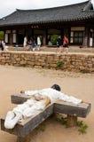 Nagan village in South Korea stock images
