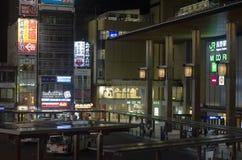Nagano в ночи, Япония стоковые изображения