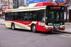 Nagano hybrid bus Stock Image
