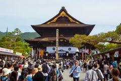NAGANO, JAPÃO - 23 DE MAIO DE 2015: Templo importante de Zenkoji, Nagano, Imagem de Stock