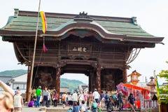 NAGANO, JAPÓN - 23 DE MAYO DE 2015: Templo importante de Zenkoji, Nagano, Foto de archivo