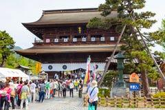 NAGANO, JAPÓN - 23 DE MAYO DE 2015: Templo importante de Zenkoji, Nagano, Foto de archivo libre de regalías