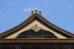 Nagano - Japón, el 3 de junio de 2017: Top adornado del tejado del importa Fotos de archivo