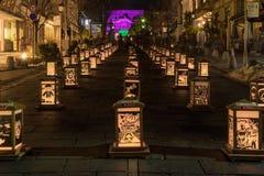 Nanagno Lantern Festival royalty free stock images