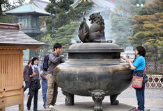 Nagano - Zenkoji tempel Royaltyfri Bild