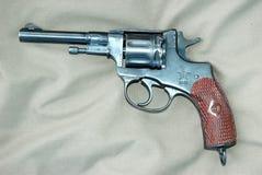 Nagant-Revolver Stockbild