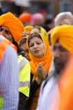 Nagar Kirtan Sikhprozession Stockbilder