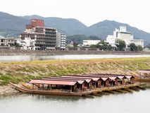 Nagaragawa river in Gifu, famous for its tradition of cormorant fishing Royalty Free Stock Photos