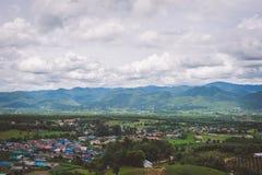 Nagarkot Népal, montagne de neige photographie stock