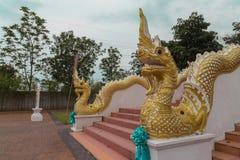nagas的雕象国王 免版税库存照片
