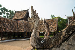 2 nagas в виске Таиланде Стоковые Фото