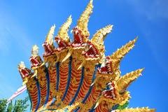 Nagas im buddhistischen allgemeinen Tempel Stockbild