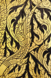 Nagas Pattern. On the door of temple.This is Art of Thailand royalty free stock photo