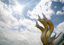 Nagas on sky stock photos