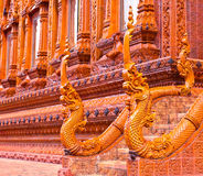 Nagas stair statue at Thai temple Stock Photography