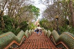 Nagas Treppen von Wat Doi Suthep Lizenzfreies Stockfoto