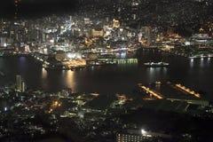 Nagasaki city at night, Japan. Stock Photo