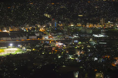 Nagasaki city at night, Japan. Stock Image