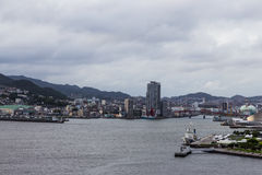 Nagasaki city skyline from Glover garden viewpoint Royalty Free Stock Image