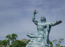 Nagasaki fred parkerar statyn Foto som tas på 12 November 2017 Royaltyfri Bild