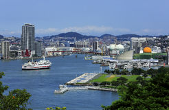 Nagasaki. With harbour seen from Glover Garden royalty free stock photo