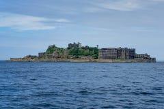 Hashima Island Abondoned Ghost Island near Nagasaki stock image
