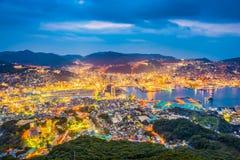 Nagasaki, Japan City Skyline Royalty Free Stock Image