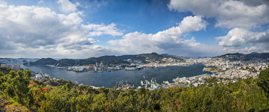 Nagasaki, Japan panorama Royalty Free Stock Image