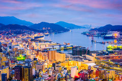 Nagasaki, Japan Skyline Royalty Free Stock Image