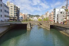 Nagasaki, Japan, Stadtlandschaft Stockfoto
