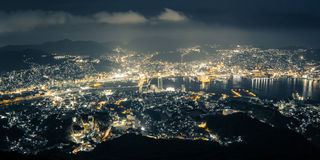 Nagasaki Night View from Mt. Inasa (Inasayama) in Nagasaki, Japan. Stock Photo