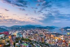 Nagasaki, paysage urbain du Japon Images stock
