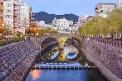 Nagasaki, paysage urbain du Japon Image libre de droits