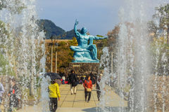 Nagasaki Peace Monument Stock Image