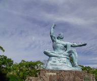 Nagasaki pokoju parka statua Fotografia brać na 12 2017 Listopadzie obraz stock