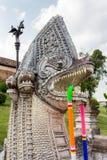 Nagastatue bei Wat Phra That Lampang Luang, Lampang, Thailand stockfotografie