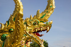 Nagastatue gelegen bei Wat Phra That Choom Chum Sakon Nakhon Lizenzfreie Stockfotografie
