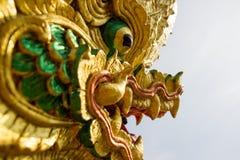 Nagastatue gelegen bei Wat Phra That Choom Chum Sakon Nakhon Lizenzfreie Stockfotos