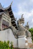 Nagastatue an Wat Chedi Luang-Tempel in Chiang Mai, Thailand Stockfotografie