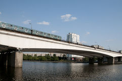 Nagatinsky Metro Bridge Royalty Free Stock Image