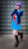 Nagato Yuki Cosplay Royalty Free Stock Photo