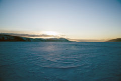 Nagayeva Bay, Far East, winter Royalty Free Stock Photo