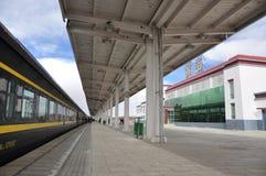 Nagchu railway station. On Qinghai-Tibet Railway, Tibet, China. Photo in March, 2010 Stock Photography