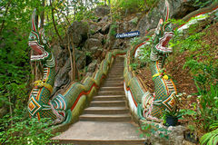 Nage staircase. This is a entrance to maung on cave stock photo