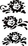 Nageant et éclaboussant le lionet Photo libre de droits