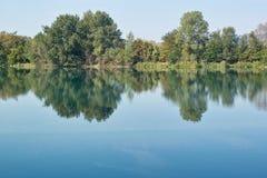 Nagedacht in een spiegel van water Royalty-vrije Stock Afbeelding