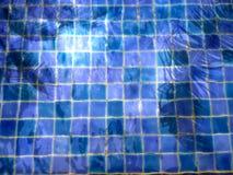 Nagedacht van palmen in het water van de pool royalty-vrije stock afbeelding