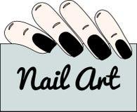 Nagel art Gotische manicure Royalty-vrije Stock Afbeeldingen