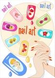Nagel-Kunst Lizenzfreies Stockfoto