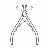 Nagelbandpojkesymbol royaltyfri illustrationer